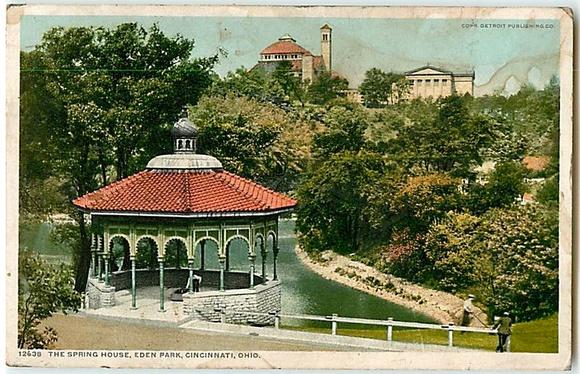Eden Park Spring House, Detroit Publishing Co. 1904
